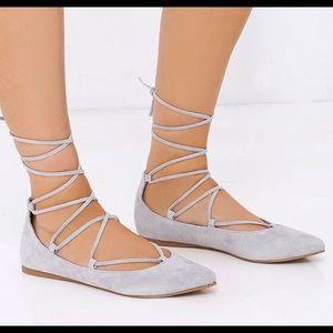 Steve Madden Eleanorr Ankle Wrap Flats 5.5